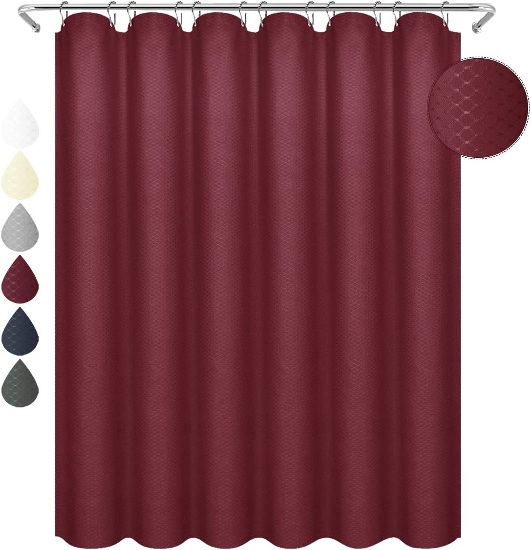 "Water Repellent 36 X 72/"" Fabric 90G//GSM Shower Curtain Or Liner He BROWN 36Wx72l"
