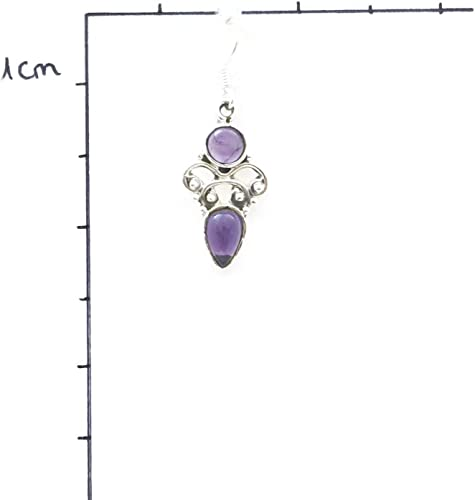 Amethyst Ohrringe 925 Silber Sterlingsilber Ohrhänger lila MOH 110-01