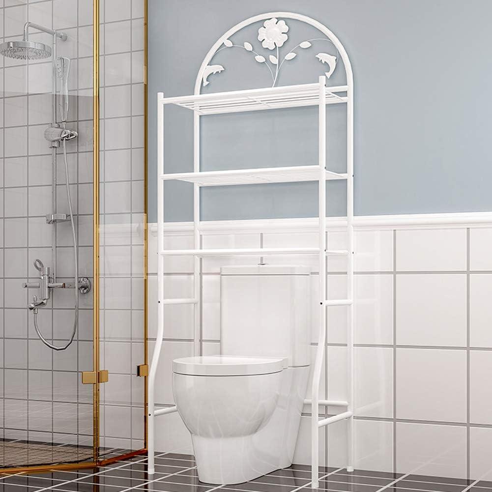 Yangyang Scaffale Bagno e WC Salvaspazio da Lavatrice Water a 3 Livelli,Organizzatore di Bagno Scaffale Aperto per Bagno o Lavanderia in Ferro,62cm /× 32cm /×180cm,Bianca