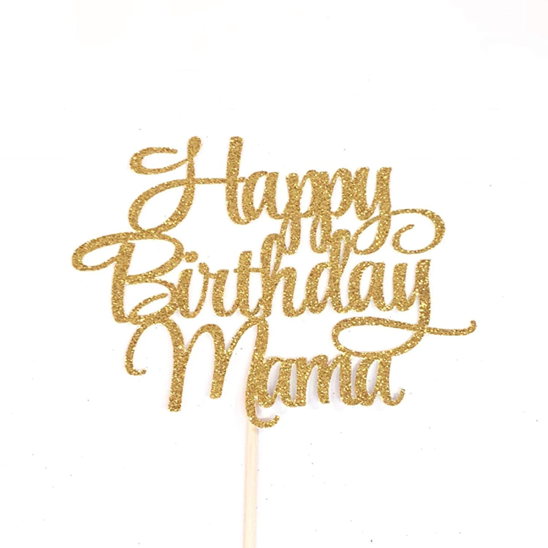 Atelier Elegance Happy Birthday Mama Cake Topper Best Mom Ever Mothers Birthday Cake Topper