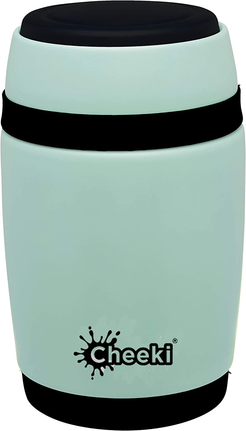 Cheeki Insulated Food Jar, Stainless Steel Thermal Food Container (480 ml/16 oz); Vacuum Insulated Hot Food Flask, BPA-Free Spill-Proof Metal Lunch Jar, Reusable Portable Hot and Cold Food Container