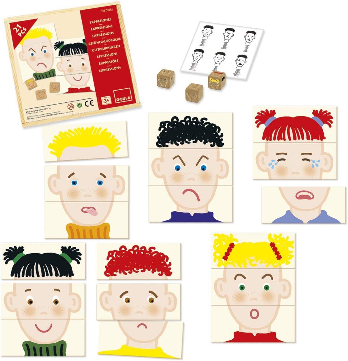 Goula - Juego de expresiones, pack de 21 piezas (Diset 51351) , color/modelo surtido