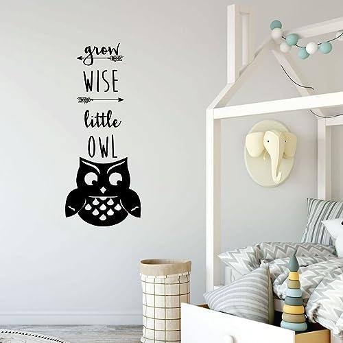 Little Owl Vinyl Decal size SMALL Nursery Design Children/'s Room Decor Home Decor Animal Decal Office Decor