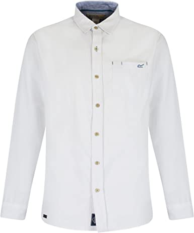 Regatta Great Outdoors - Camisa clásica de Manga Larga Modelo Benas para Hombre (M/Blanco): Amazon.es: Ropa y accesorios