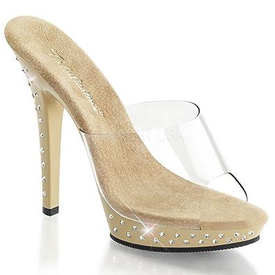 FABULICIOUS - Sandalias de vestir para mujer Clr-Tan/Clr 2 UK n9E5oQ