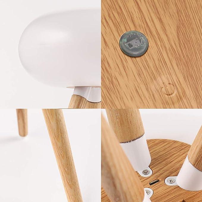 LED madera trípode lámpara de escritorio de infrarrojos sensor ...