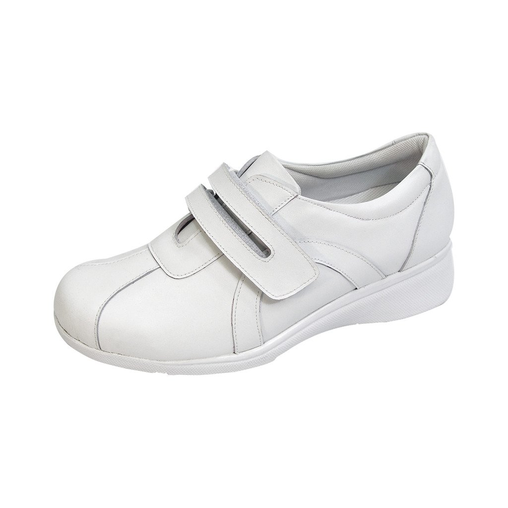 24 Hour Comfort  Bonnie (1062) Women Extra Wide Width Walking Shoes White 8.5
