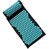 SturdCelleau Acupressure Mat and Pillow Set - Back and Neck Pain Relief - Relieves Stress, Back, Neck, and Sciatic Pain - Full Body Massager Yoga Acupuncture Mat - Muscle Relaxation (2pcs/Set)