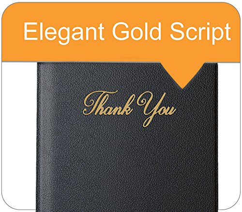 Guest Check Card Holder - Presenter with Gold Thank You Imprint - 5.5'' x 10'' (Standard, Black_20_Pack, 20) by Gold Lion Gear (Image #5)
