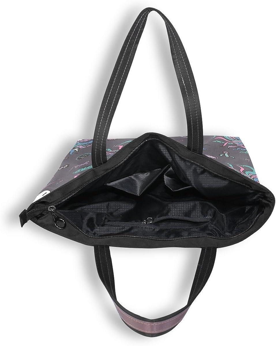 WIHVE Unicorn Womens Tote Bag Top Handle Satchel Handbags Shoulder Bags