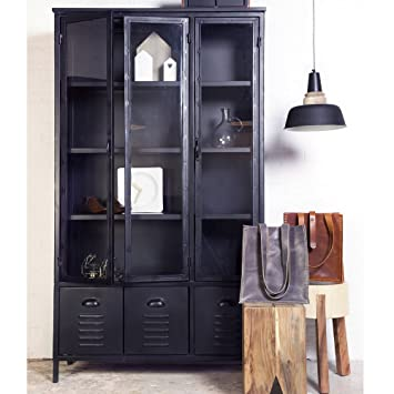 vitrinenschrank metall bestseller shop f r m bel und. Black Bedroom Furniture Sets. Home Design Ideas