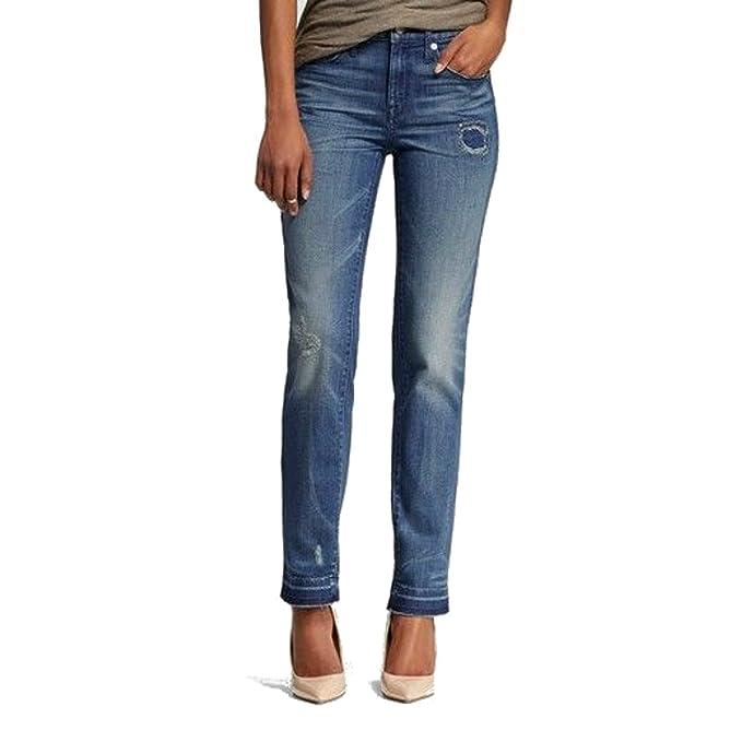 Amazon.com: Mossimo High Rise Recto Jeans lavado mediana ...