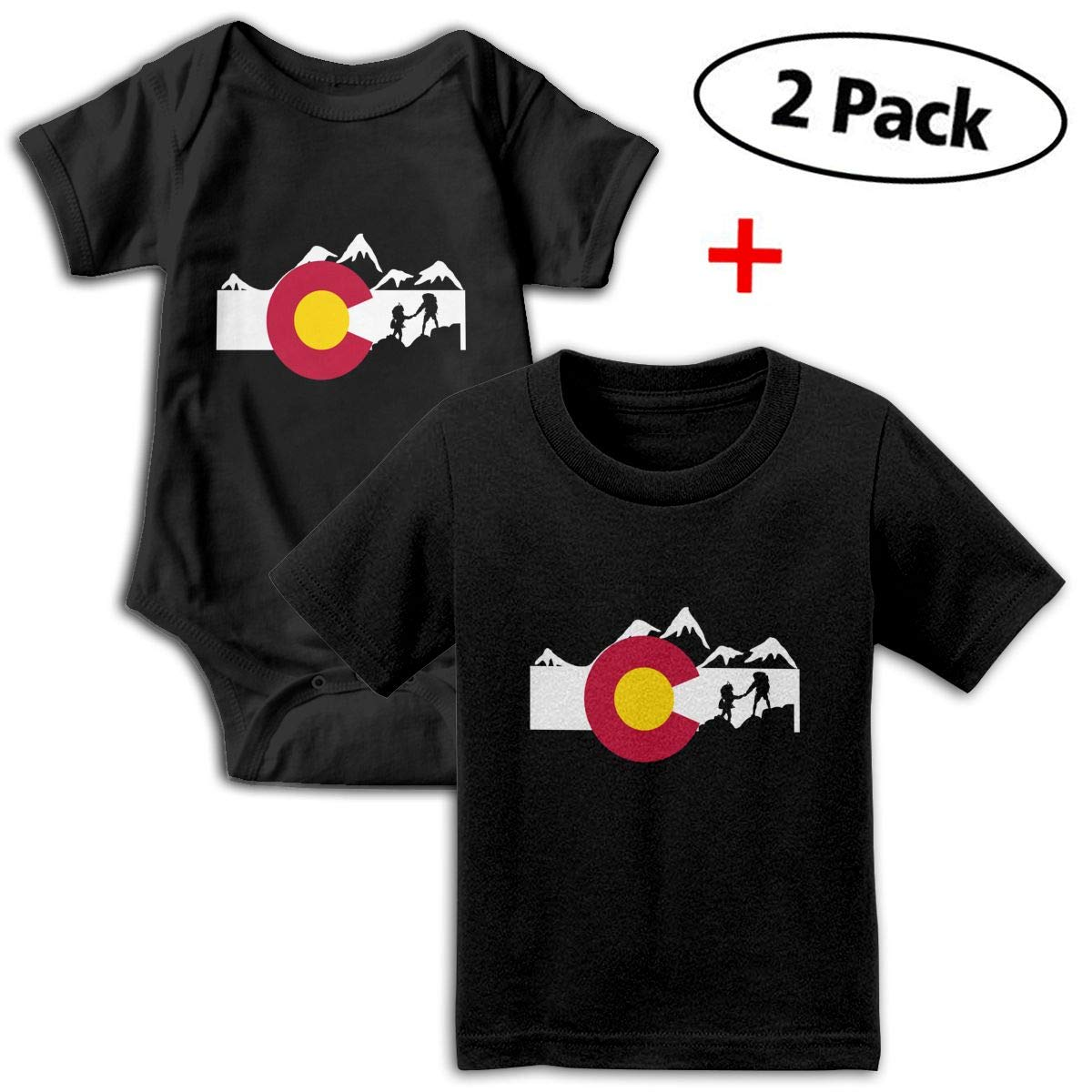 01611d9db Amazon.com  Colorado Hike Unisex Baby Short-Sleeve Bodysuit   Baby T ...