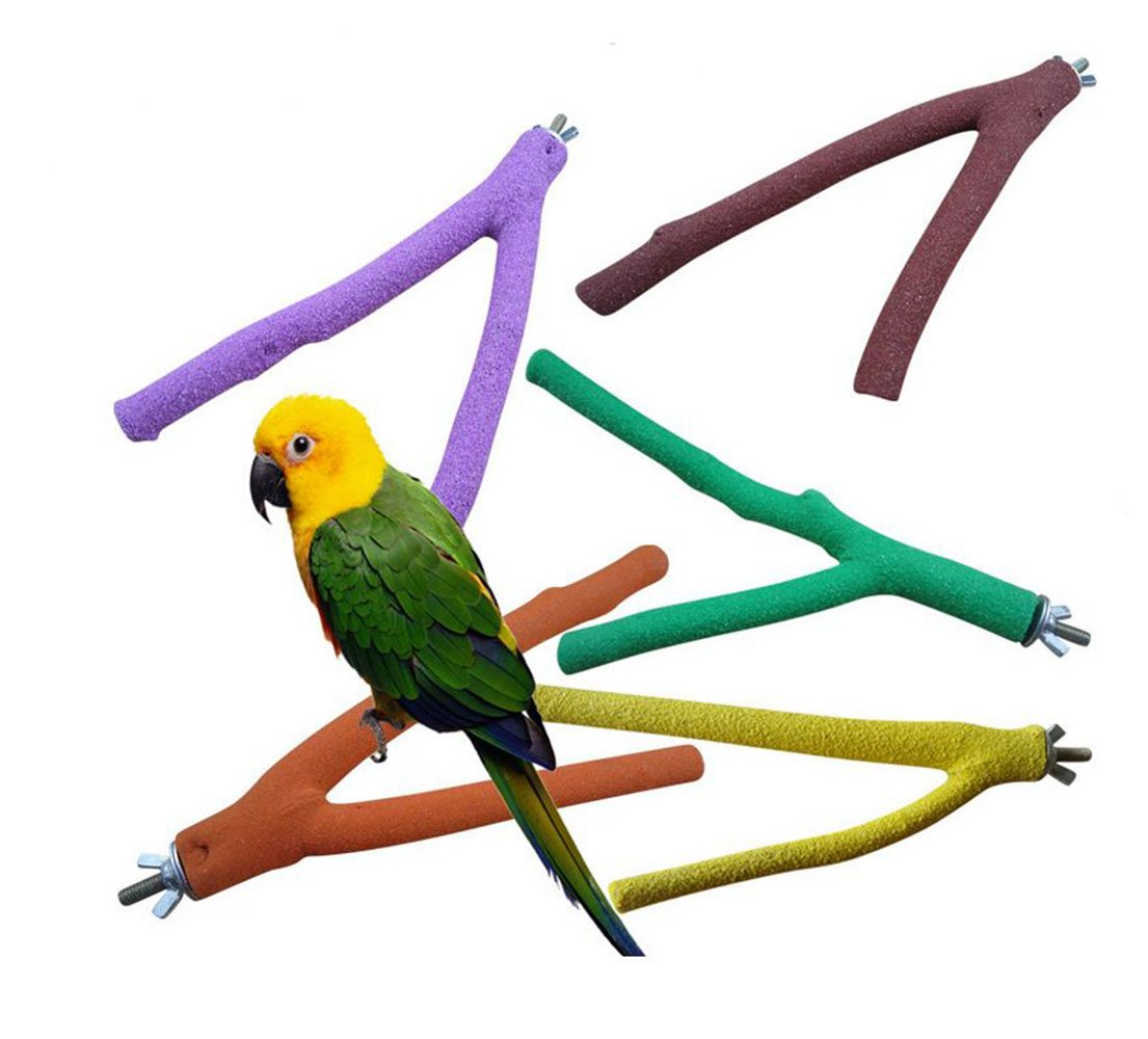 Scrubbing Sticks Grinds Claw Sticks for All Types of Parrots Wood Sticks for Birds 2 Sizes Randomly Color (20cm) hz
