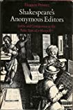 Shakespeare's Anonymous Editors, Eleanor Prosser, 0804710333