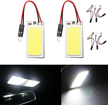 DC 12V GrandView 4pcs Blue Energy-saving 5050 48-SMD LED Panel Dome Lamp Auto Car Interior Reading Plate Light Roof Ceiling Interior Wired Lamp