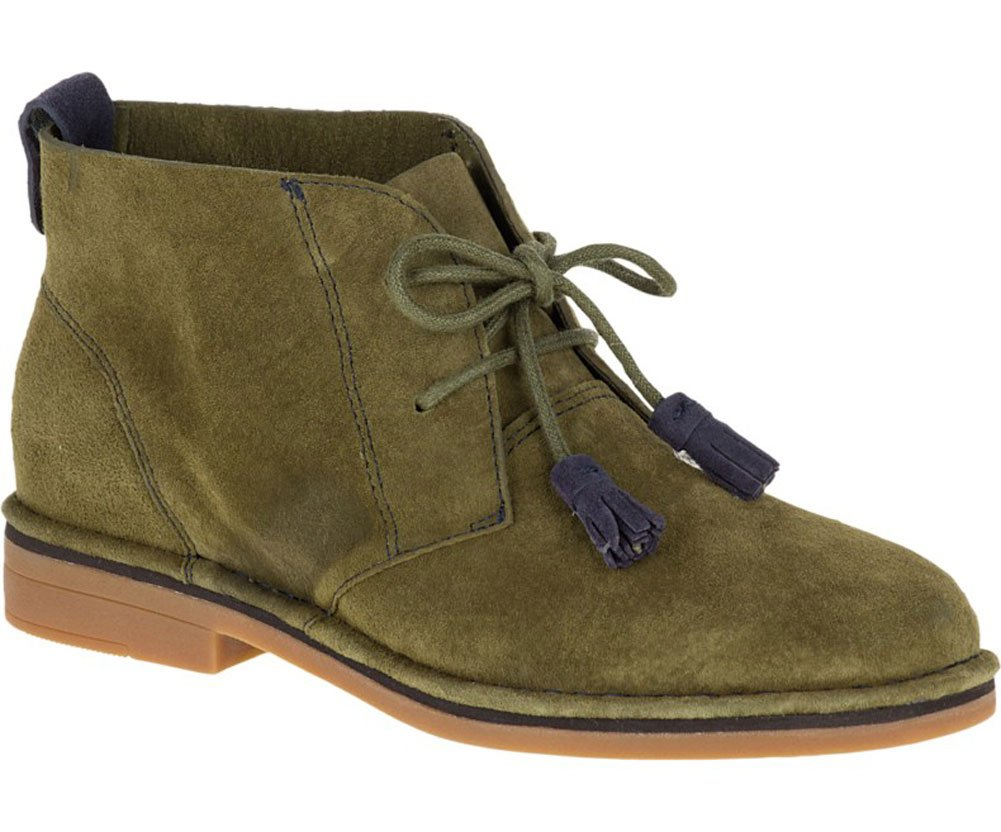 Hush Puppies Women's Cyra Catelyn Boot B019X7QMOI 5 B(M) US|Dark Olive Suede