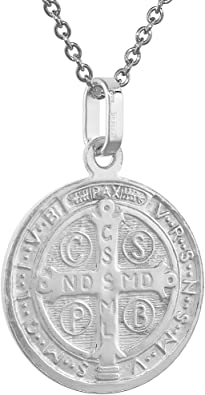 Womens Solid 925 Sterling Silver Saint Benedict Medal San Benito Round Ring SZ 6
