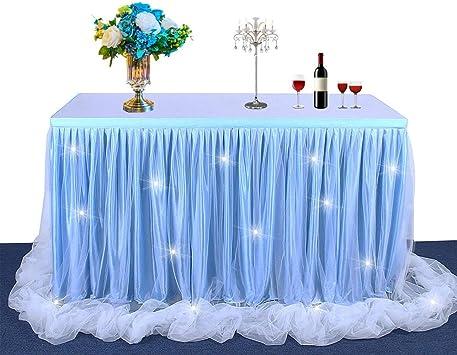 Sueño estilo princesa Falda de mesa de tul Ropa de mesa de malla ...