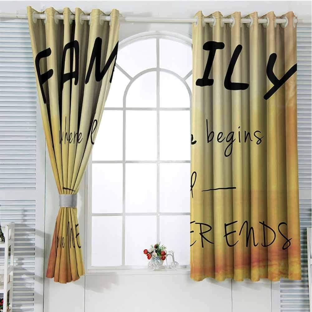 FreeKite - Cortinas para Puerta corredera de Cristal, diseño con Texto en inglés I Love My Family: Amazon.es: Hogar
