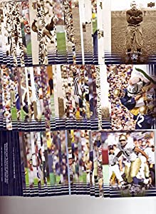 2013 Upper Deck Notre Dame 100 Card Complete Base Set - includes players and coaches like Joe Montana, Tim Brown, Jerome Bettis, Brady Quinn, Manti Te'o, Paul Hornung, Joe Theismann, Lou Holtz, Brian Kelly, and many more Notre Dame greats - Great Gift for