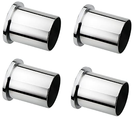 Ddrapes - 4 SS Wall to Wall Bracket for 1 Inch Curtain Rod Curtain Accessories at amazon