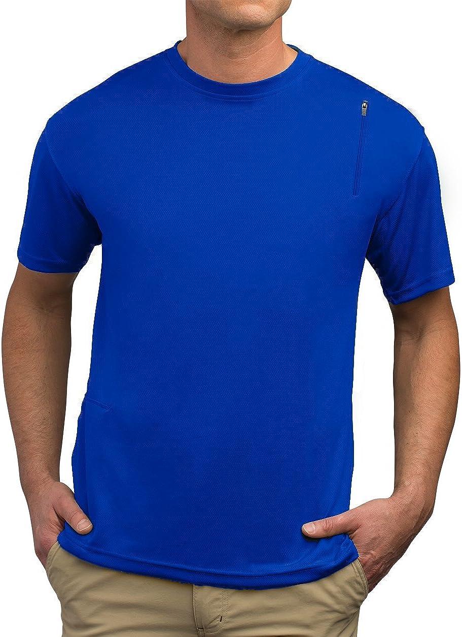 SCOTTeVEST Performance Short Sleeve - Athletic Workout Clothes Men - 3 Pockets