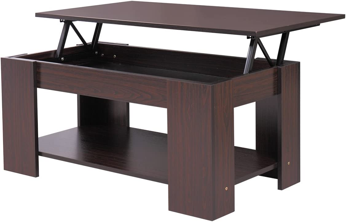Amazon Com Jaxpety Lift Up Top Coffee Table With Under Storage