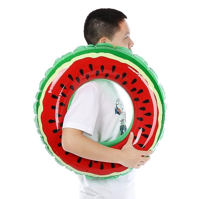 Amazon.com: Piscina de verano sandía gigante anillo de ...