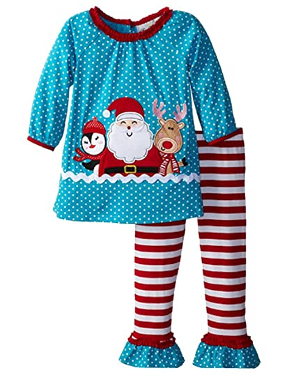 Amazon.com: Little Girls Christmas Outfits Santa Claus Tops Striped Leggings  Set: Clothing - Amazon.com: Little Girls Christmas Outfits Santa Claus Tops Striped