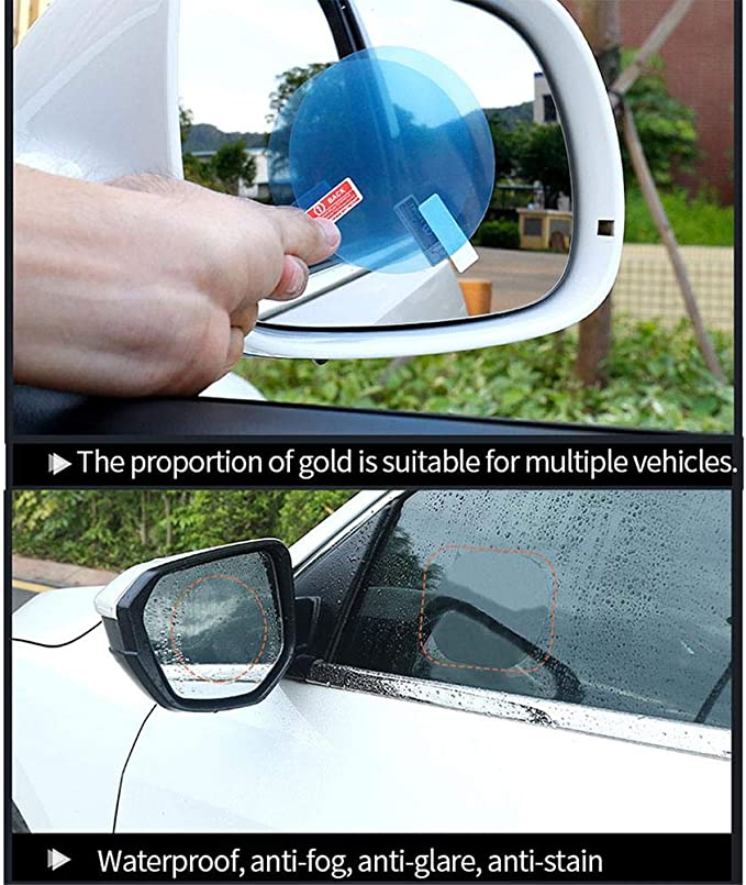 Transparent HD Lot de 8 films anti-bu/ée pour r/étroviseur de voiture Pour r/étroviseur de voiture