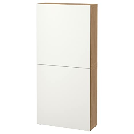 IKEA BESTA - Armario de pared con 2 puertas efecto roble / blanco lappviken