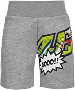 Valentino Rossi VRKSP371305002, Pantalones Cortos Pop Art Bebé Unisex, Gris Melange, 4/5 Años