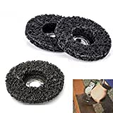 8 Pack - 4-1/2 x 7/8-5/8 Black Stripping Wheel Strip Discs Clean & Remove Paint, Coating, Rust and Oxidation for wood metal fiberglass work with grinder polisher grinding burnishing silicon carbide