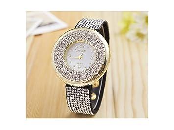 GOOTUOUOU Relojes de Cuarzo para Mujer Unique Diamond Casual analógico Marble Lady Reloj Mujer Relojes