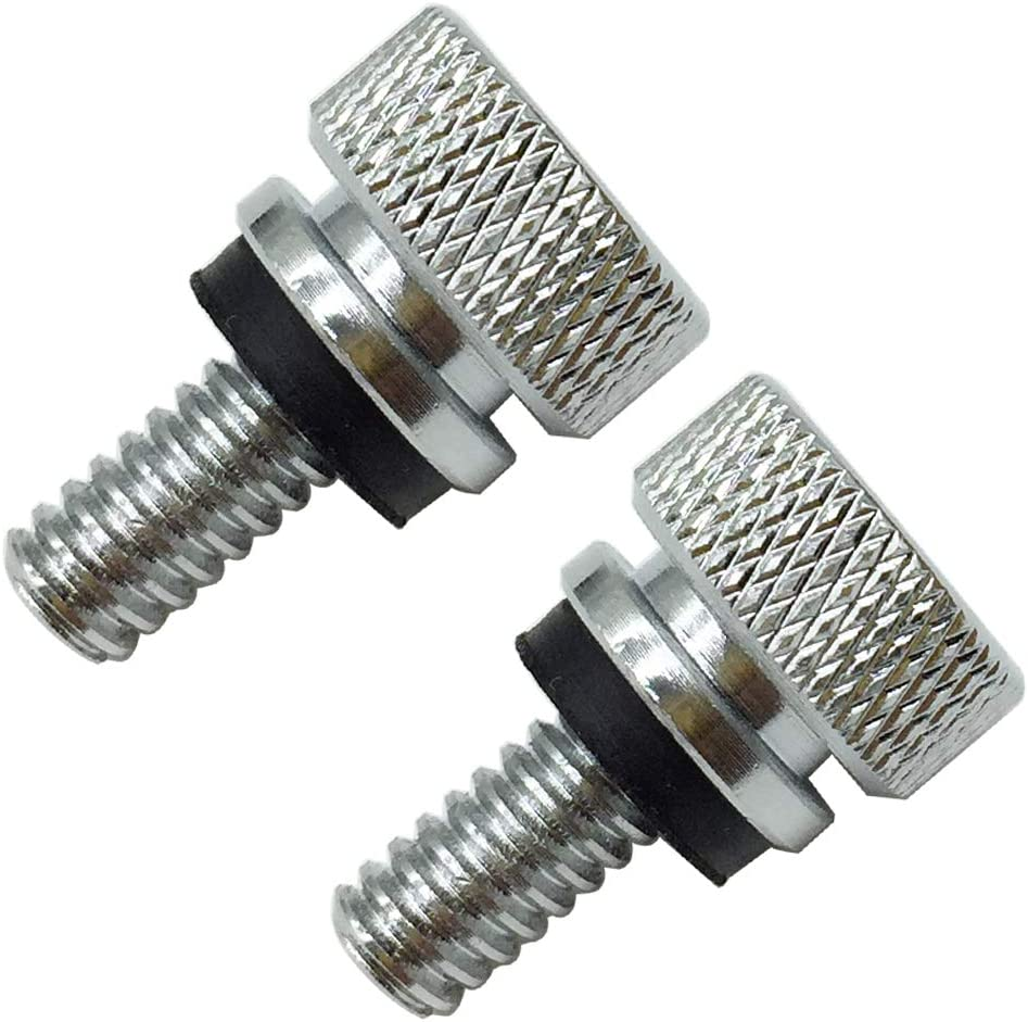 Stainless Steel Seat Bolt Rear Mount Screw Chrome for Harley Davidson 1996-2019,2 PCS
