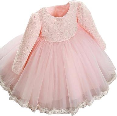 K-youth Vestidos Niñas Fiestas Boda, Ropa Bebe Niña Vestido Bebe Bautizo Vestido Niña Ceremonia Manga Larga Tutu Princesa Vestido de niña Vestido Bebe Niña Vestido de Fiesta Niña: Amazon.es: Ropa y accesorios
