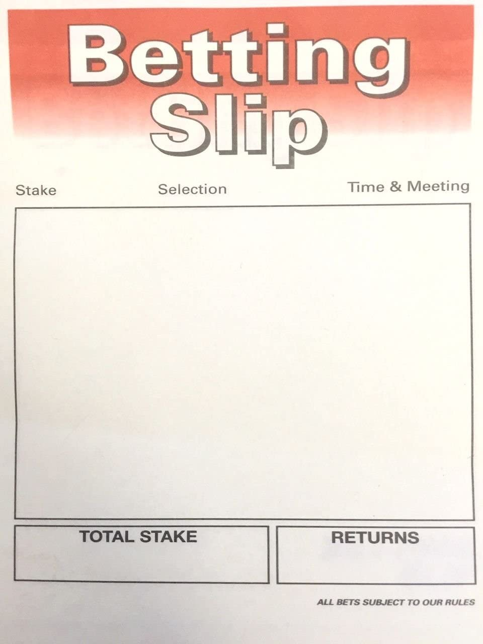 Betting slips for a race night games betting closed correct score predictions