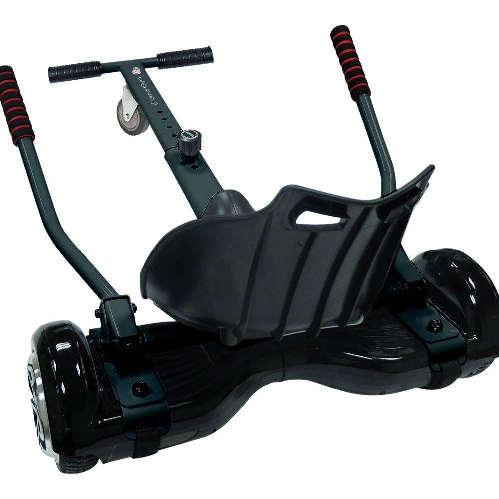 Ruedas de 6.5, Certificado UL, Bluetooth, Potente bater/ía de litio, Comodo, Estructura de kart, Resistente y facil de usar SmartGyro X2 UL Raptor con Go Kart Black Pack Hoverboard y Kart