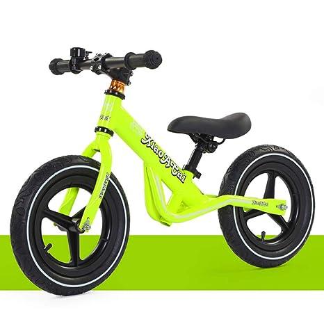 1-1 Bicicletas sin Pedales para niños, Ligero Ajustable Neumáticos inflables BMX Primera Bicicleta