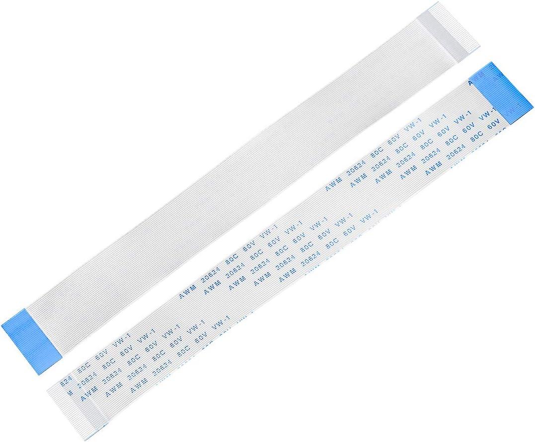 cable de cinta flexible para televisor LCD FPC FFC Sourcingmap ordenador port/átil Cable plano flexible tipo B 0,5 mm de paso de 150 mm coche reproductor de DVD 5 unidades
