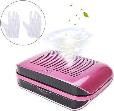Succión Colector de Polvo, Aspiradora profesional para polvo de clavos aparatos eléctricos profesional para manicura y pedicura, 68W(Rose Red + EU Plug): Amazon.es: Belleza