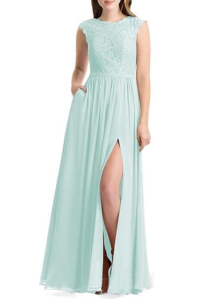 Lover Kiss Women Lace Bridesmaid Dress V Back Wedding Gown Dress B023