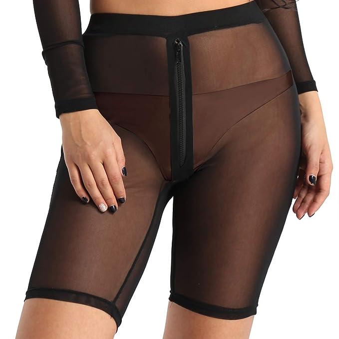 Shorts Hot Yoga Alvivi Fitness Durchsichtig Mesh Pant Damen Leggings Rqc5AL34jS