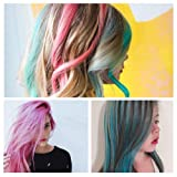 10 Colors Hair Chalk for Girls Gift, Kids Temporary Bright Hair Color, Hair Chalk Comb Birthday New Year Gift for Girls Of Ages 4 5 6 7 8 9 10+ Washable Non-Toxic for Kids Hair Dyeing Cosplay Parties
