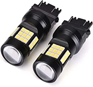 3157 LED Bulbs, 2000 Lumens Super Bright 3056 3156 3057 4057 3157K 4157 LED Bulbs with Projector for Backup Reverse Lights Tail Brake DRL Parking Lights, Xenon White(Pack of 2)