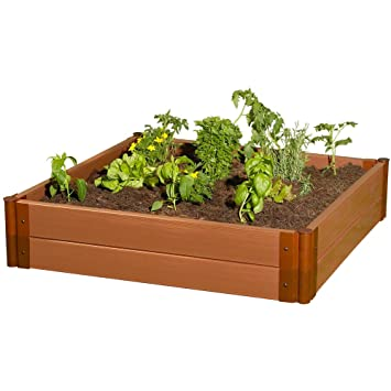Amazoncom Frame It All Composite Raised Garden Bed Kit 4 by 4