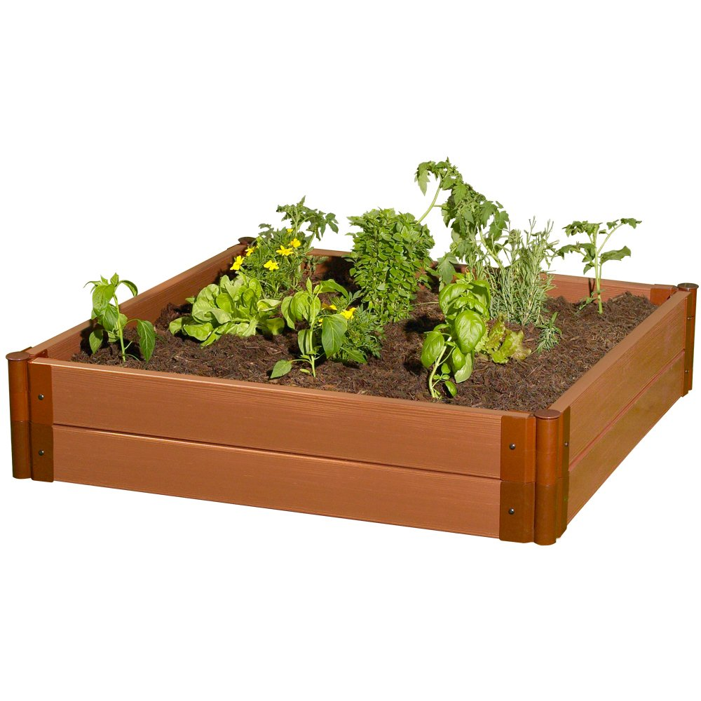 Frame It All Composite Raised Garden Bed Kit, 4' by 4' by 11'' by Frame It All