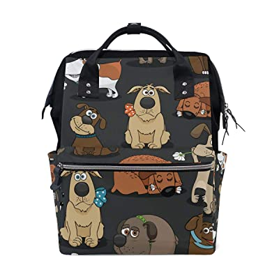 Women Casual Backpack Cartoon Pet Dog Book Bag Lightweight School Travel Backpack Canvas 18L with Doctor Style | Kids\' Backpacks [5Bkhe0702645]