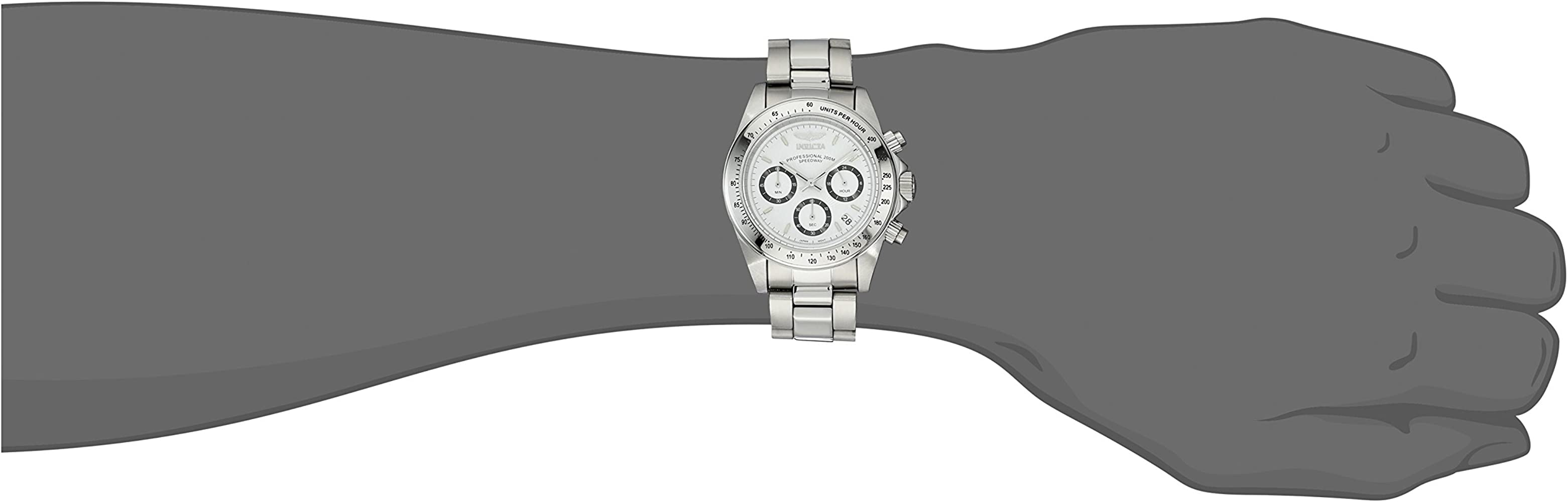 Invicta Men 9211 Speedway Collection Stainless Steel Chronograph Watch with Link Bracelet